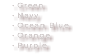 Green Navy Ocean Blue Orange Purple